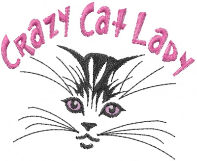 Crazy Cat Lady Embroidery Designs Machine Embroidery Designs At