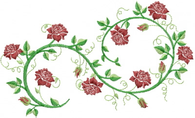 Rose Vine Embroidery Designs Machine Embroidery Designs At