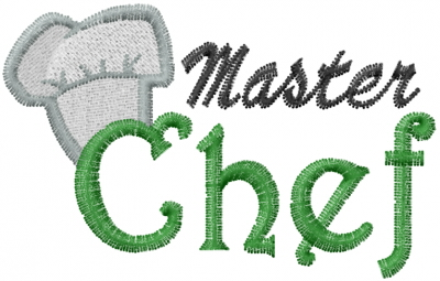 Master Chef Embroidery Designs Machine Embroidery Designs At
