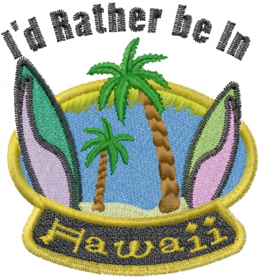 Surfing Hawaii Embroidery Designs Machine Embroidery Designs At