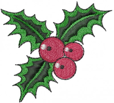 embroidery holly L112 Christmas embroidery design Holly embroidery design Holly embroidery designs Christmas embroidery