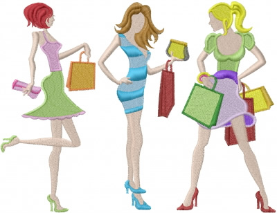 Shopping Girls Embroidery Designs Machine Embroidery