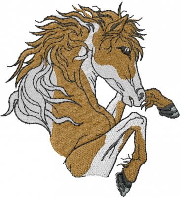 Jumping Horse Embroidery Designs Machine Embroidery