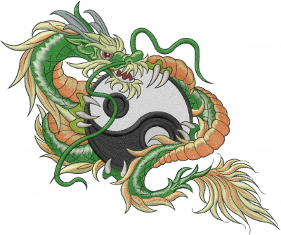 Dragon Yin Yang Embroidery Designs Machine Embroidery Designs At