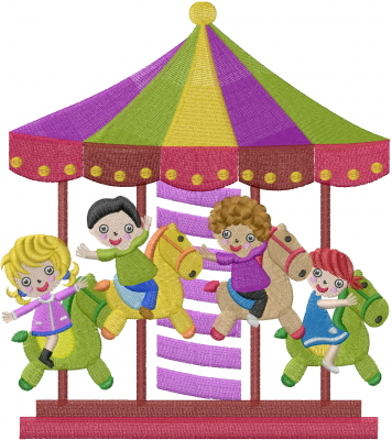 Merry Go Round Embroidery Designs