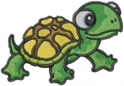 Free Turtle Applique Design