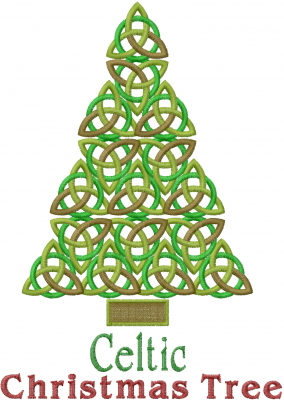 Celtic Christmas Tree Embroidery Designs, Machine Embroidery ...