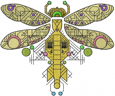 Geometric Dragonfly Embroidery Designs Machine Embroidery Designs
