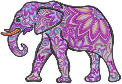 Indian Flower Elephant...