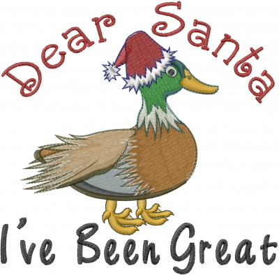 great christmas duck embroidery design - Christmas Duck