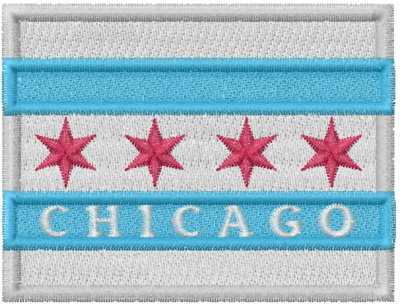 Chicago Flag Embroidery Designs Machine Embroidery Designs At