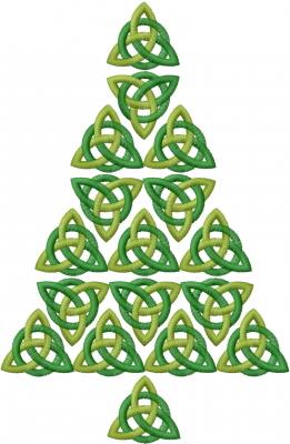 celtic christmas tree embroidery design - Celtic Christmas