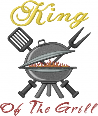 King Of The Grill Embroidery Designs Machine Embroidery Designs At