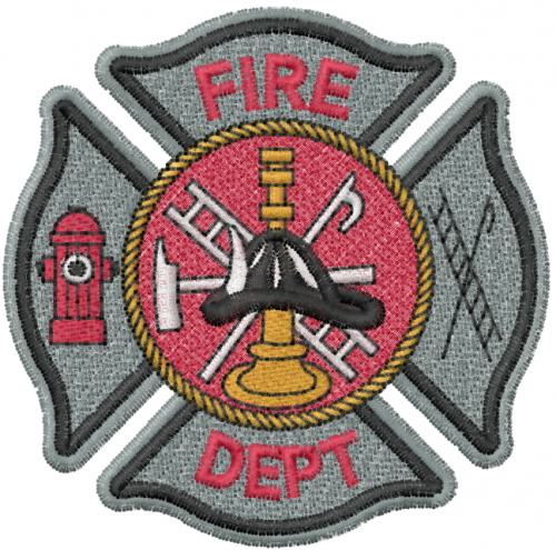 fire dept logo embroidery designs machine embroidery
