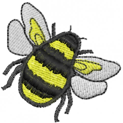 Bumble bee embroidery designs machine