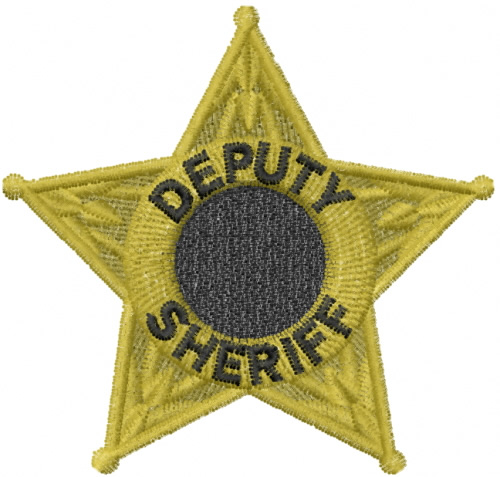 Free Sheriff Badge Embroidery Design