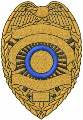 Blank Police Badge Embroidery Designs, Machine Embroidery ...