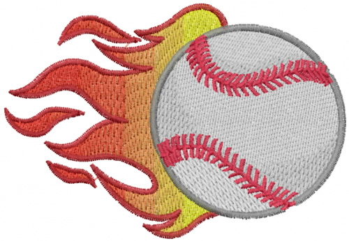 Flaming Baseball Embroidery Designs Machine Embroidery Designs At