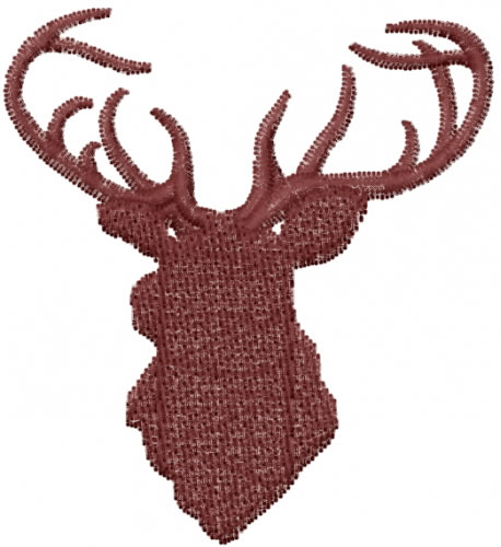 Deer silhouette embroidery designs machine