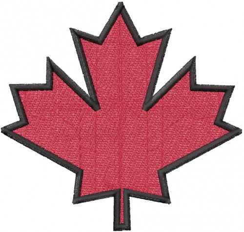 Large maple leaf embroidery designs machine