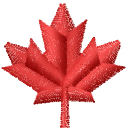 Small maple leaf embroidery designs machine