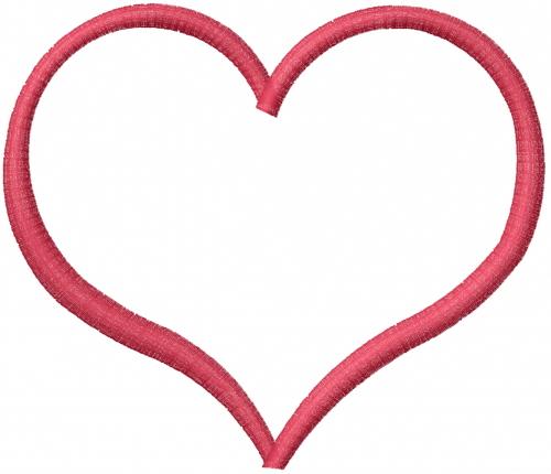 Image gallery heart applique design