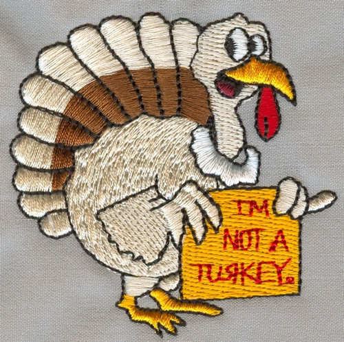 Thanksgiving turkey embroidery designs machine