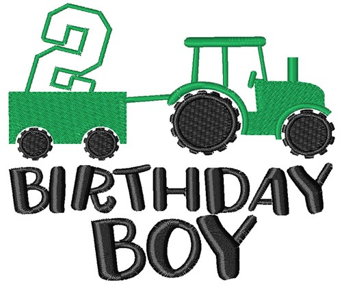2nd Birthday Tractor Embroidery Designs Machine