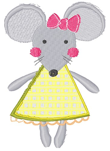 Little Girl Mouse Embroidery Designs Machine Embroidery Designs At
