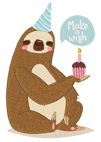 Happy Birthday Sloth Embroidery Designs Machine Embroidery Designs