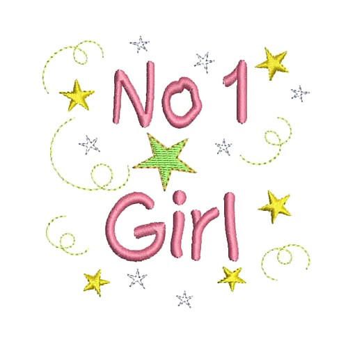 No 1 Girl Embroidery Designs Machine Embroidery Designs