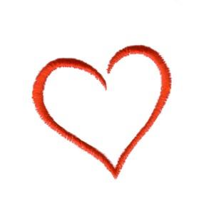 Machine Embroidery Design Open Heart