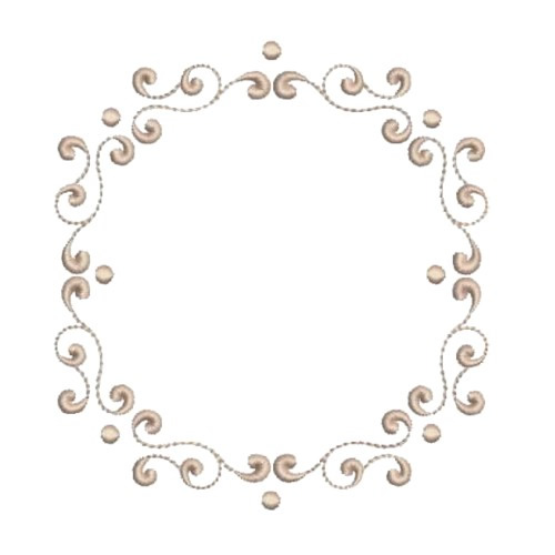 Monogram Circle Frame Embroidery Designs Machine Embroidery Designs