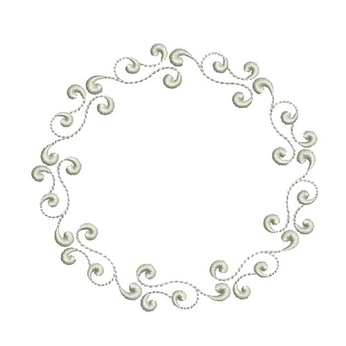 Monogram Circle Frame Embroidery Designs Machine