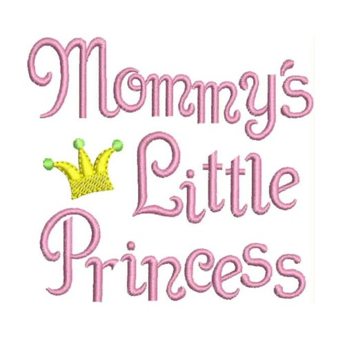 Mommys Little Princess Embroidery Designs Machine Embroidery