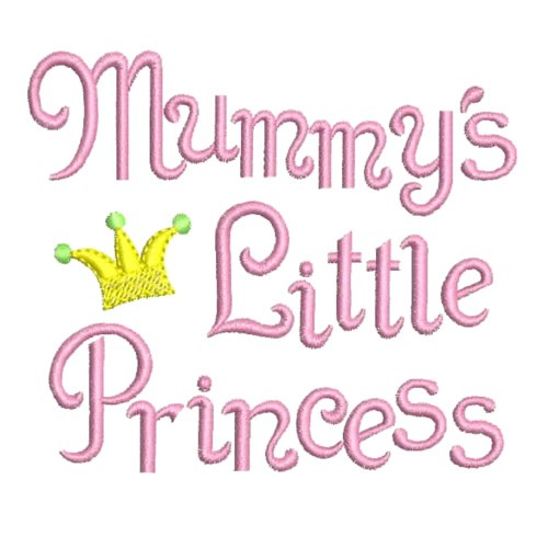 Mummys Little Princess Embroidery Designs Machine Embroidery