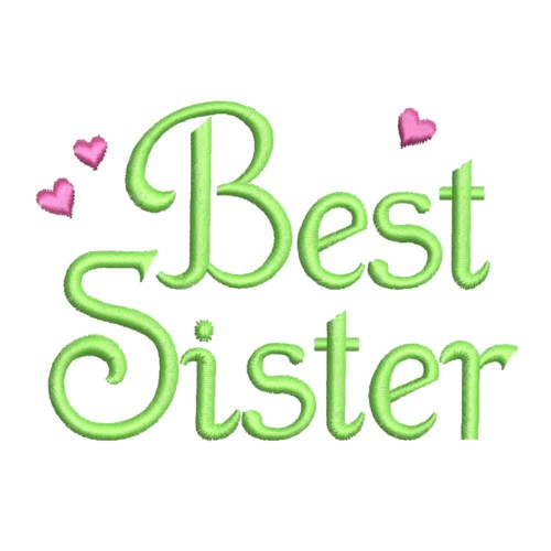 Best Sister Coloring Pages : Best sister love embroidery designs machine