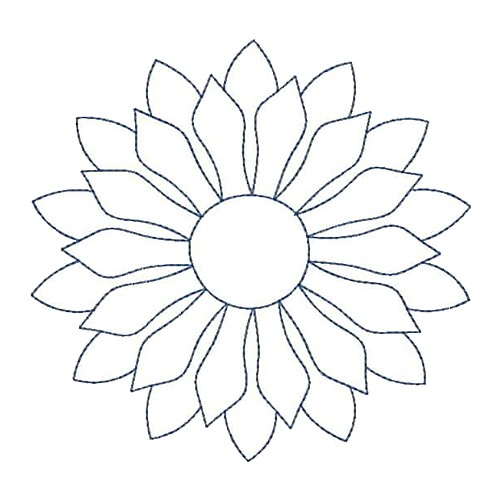 Sunflower Quilt Outline Embroidery Designs Machine