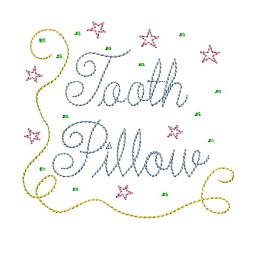 Tooth Fairy Pillow Machine Embroidery Design