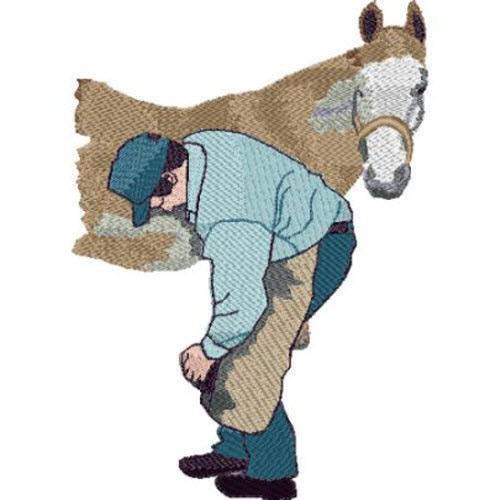 Farrier jacket back embroidery designs machine
