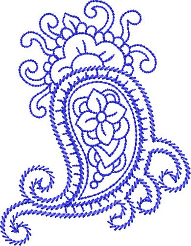 Bluework Paisley Embroidery Designs Machine Embroidery Designs At