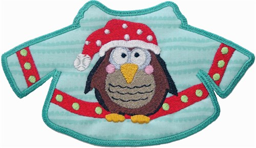 Owl christmas sweater free standing applique embroidery designs
