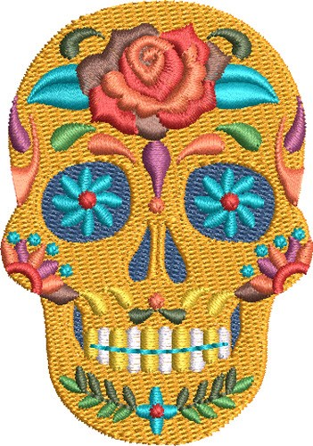 Fiesta Sugar Skull Embroidery Designs Machine Embroidery Designs At