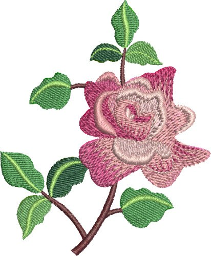 Simple rose embroidery designs machine