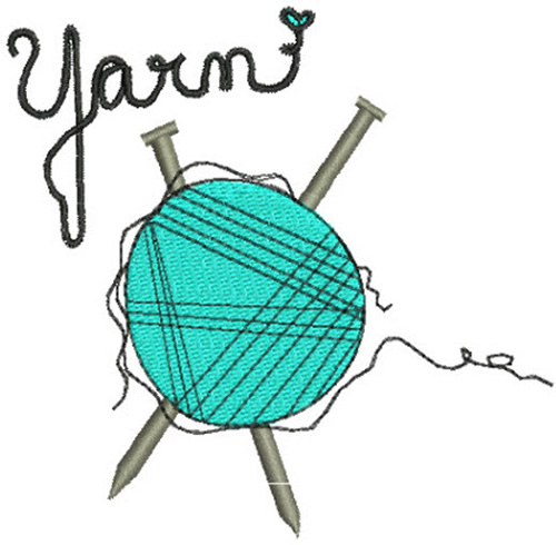 Knitting needles yarn embroidery designs machine