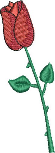 Red rose embroidery designs machine at