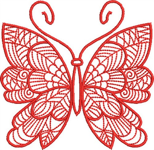 Redwork butterfly embroidery designs machine