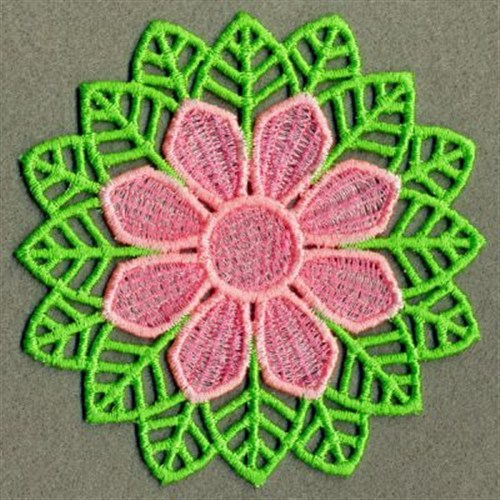 FSL Pink Flower Embroidery Designs Machine Embroidery