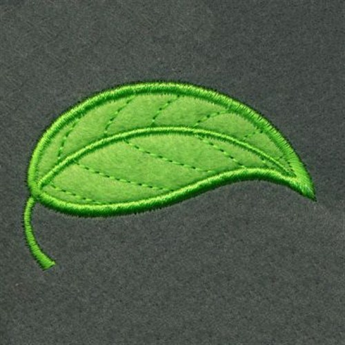 Applique green leaf embroidery designs machine