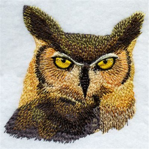 Realistic owl embroidery designs machine